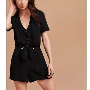 Wilfred - Black Romper with Tie-front - XS